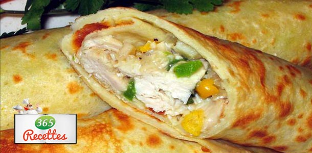 crepes farcies à la mexicaine