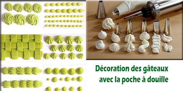 comment décorer gateau avec poche douille
