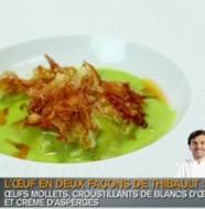 recette des oeufs mollets en deux façon de thibault de top chef
