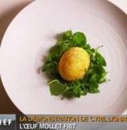 œuf mollet frit façon cyril lignac