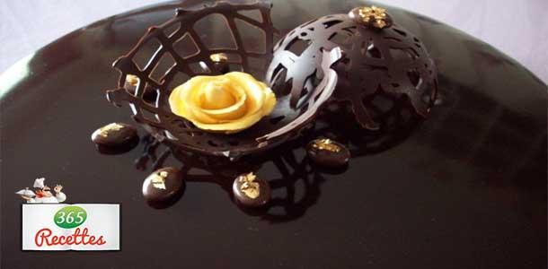 glaçage chocolat brillant