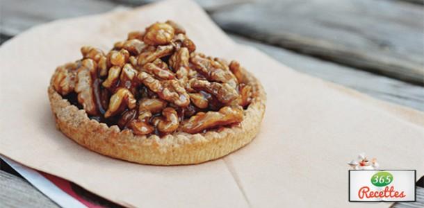 Tarte au noix caramélisées facile