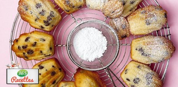 recette facile de madeleines au chocolat de Cyril Lignac