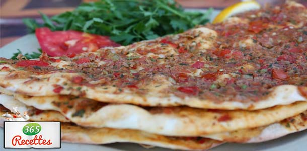 Recette facile pour cuisiner la pizza turque fait maison - Recette facile a cuisiner ...