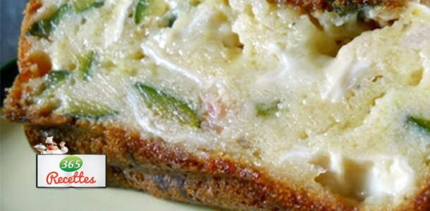 Cake au fromage de chèvre et courgettes