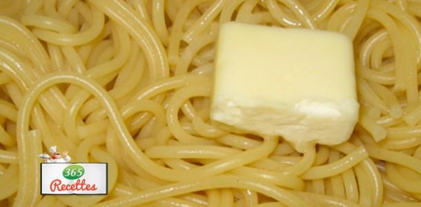 recette économique du spaghetti au beurre au micro-ondes