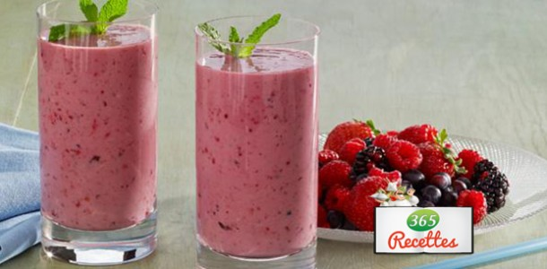 recette facile du smoothie aux fruits rouges