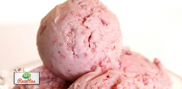 recette glace aux fraises