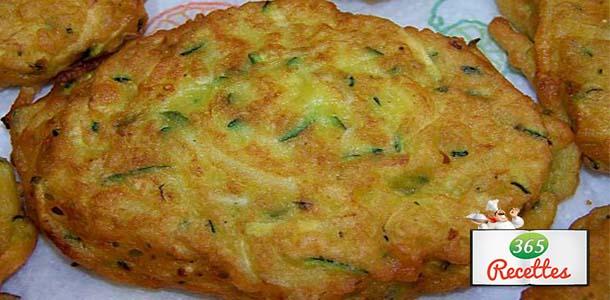 recettes beignets courgettes et persil