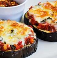 aubergine au fromage et tomate