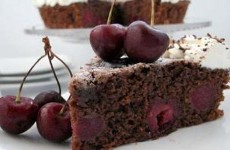 clafoutis au chocolat et cerises