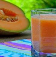 smoothie au melon et pêche