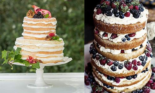 pièce montée naked cake
