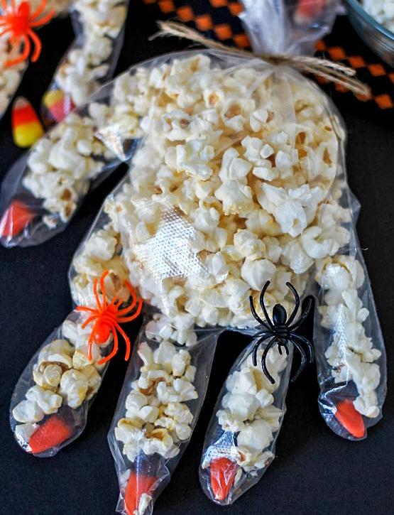recette mains effrayantes Halloween