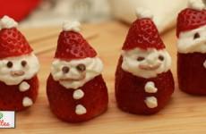 papa Noel en fraises