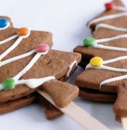 recette biscuit au chocolat en forme d'arbre de Noel