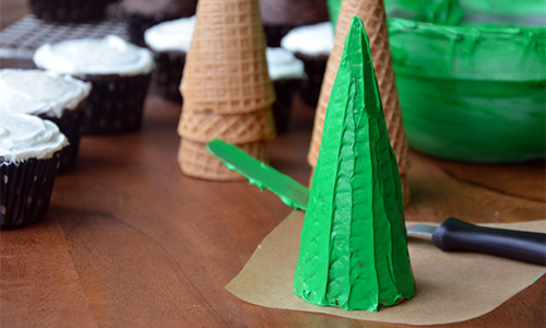 recette facile de cupcake en forme de sapin de noel