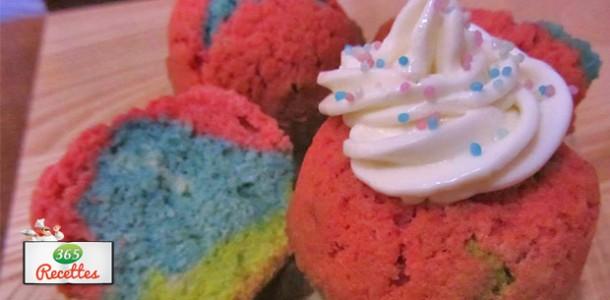 cupcake arc en ciel